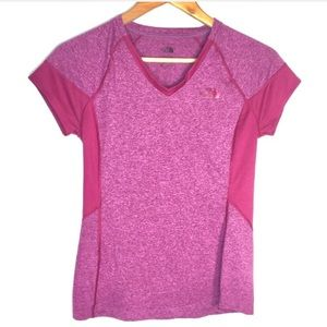 The North Face Logo Pink Athletic Running T Shirt